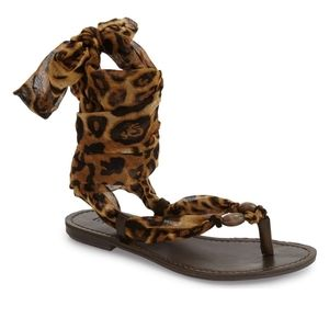 50% OFF!!  MIA DRINA ANKLE WRAP SANDALS SIZE 7.5-8